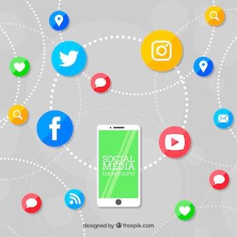 携帯電話を使ったフラットソーシャルメディアの背景