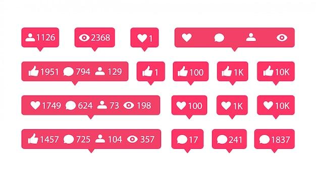 Плоские иконки социальных сетей