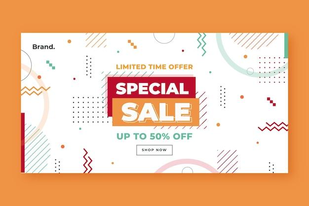Flat social media sale post template