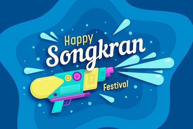 Flat songkran background concept