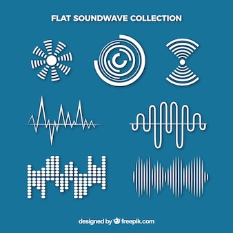 Flat sound waves with variety of designs