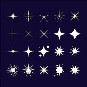 Flat sparklings star collection