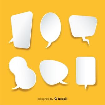 Коллекция плоских речи пузырь в стиле бумаги
