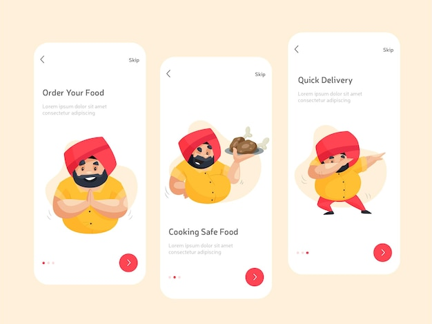Flat splash screen design for apps