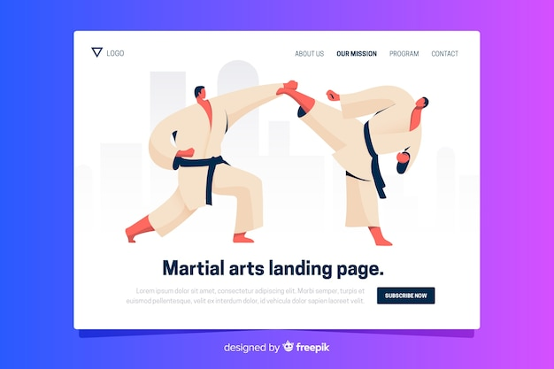 Flat sport landing page template