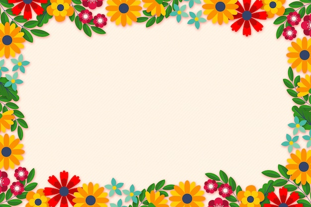 Flat spring background with empty space