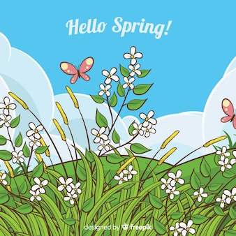 Flat spring background