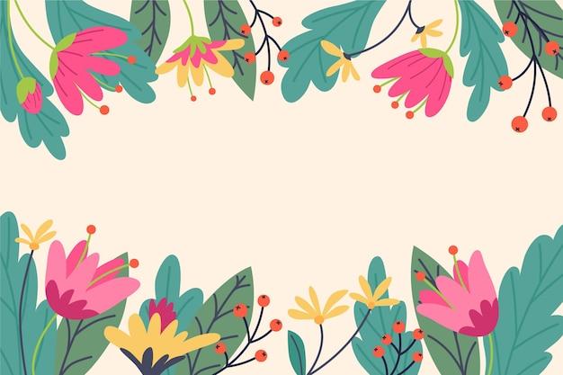 Flat spring background