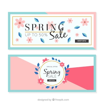 Flat spring banner web collection