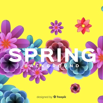 Flat spring bckground