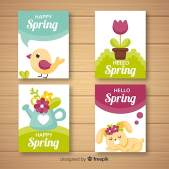 Flat spring elements card collection