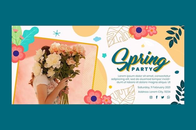 Flat spring horizontal banner