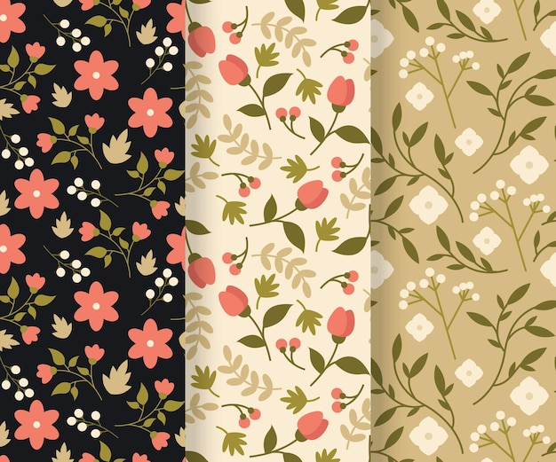Flat spring pattern collection