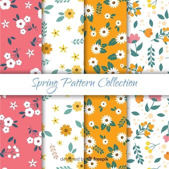 Flat spring pattern set