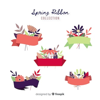 Flat spring ribbon collection
