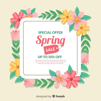 Flat spring sale ackground