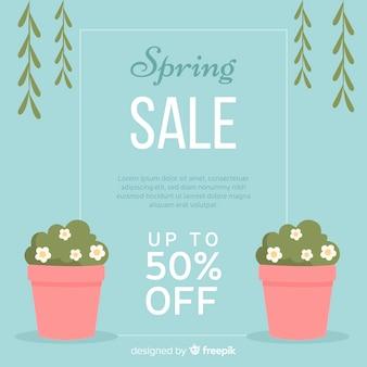 Flat spring sale background