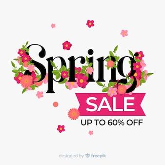 플랫 봄 판매 배경
