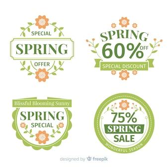 Pacchetto distintivo di vendita primavera piatta