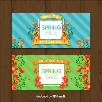 Flat spring sale banner