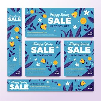 Banner di vendita piatta primavera