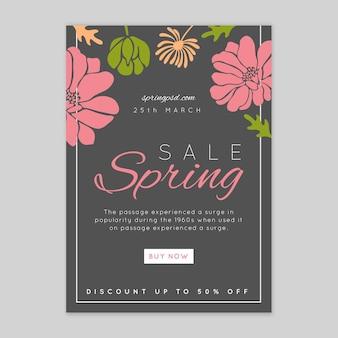 Volantino di vendita primavera piatta