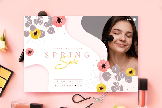 Illustrazione di vendita primavera piatta