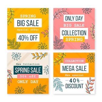Collezione di post instagram vendita primavera piatta
