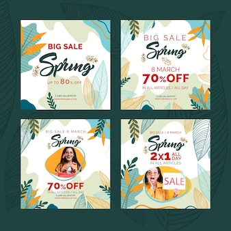 Flat spring sale instagram posts