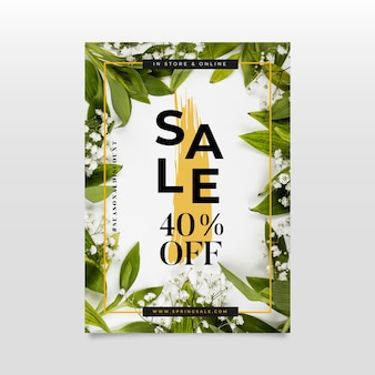 Flat spring sale poster