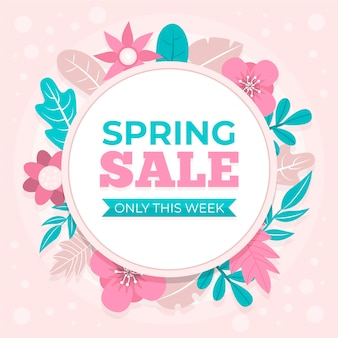 Flat spring sale with flowers