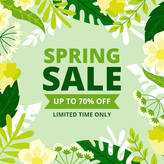 Flat spring sale with plants
