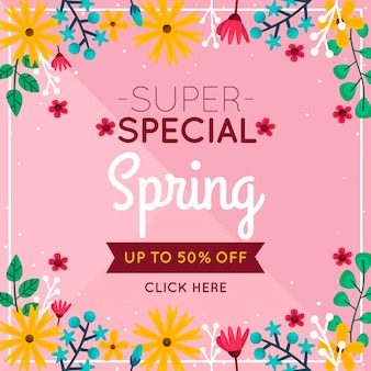 Flat spring sale with super discount