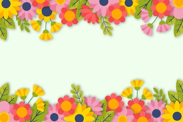 空のスペースと平らな春の壁紙