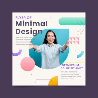 Flat square flyer template