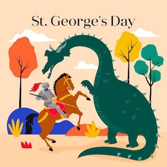 Appartamento st. illustrazione del giorno di george