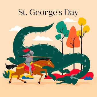 Flat st. george's day illustration