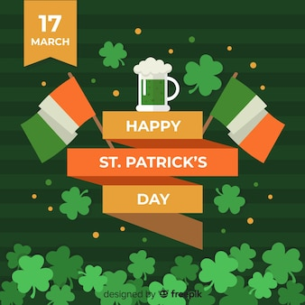 Flat st. patrick's day background
