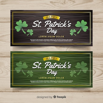 Flat st. patrick's day banner