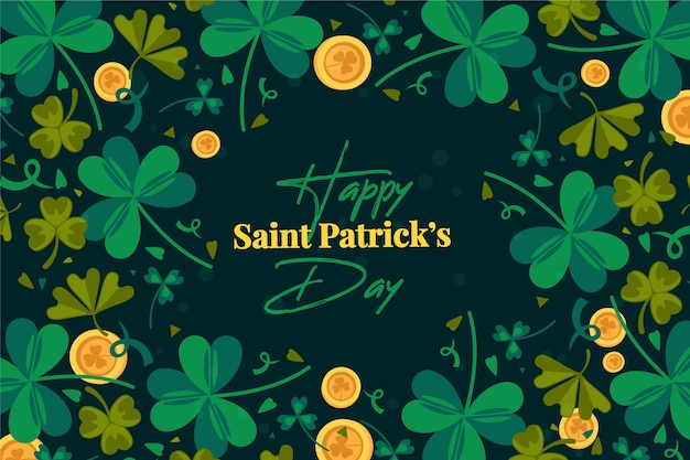 Flat st. patricks day background