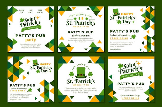 Flat st patricks instagram posts