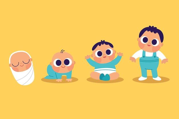 아기의 평평한 단계