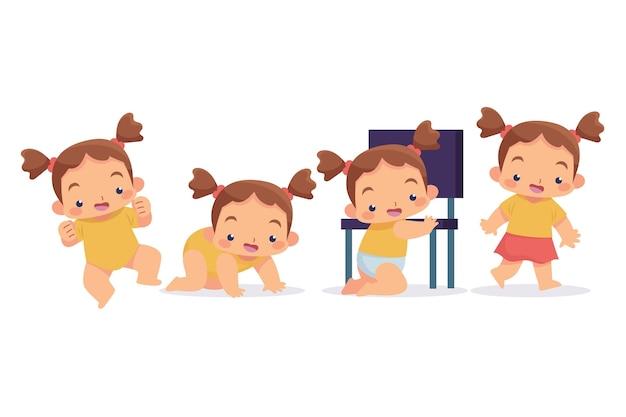 여자 아기의 평면 단계