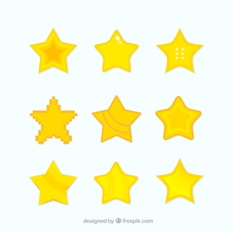 Flat star collection for games