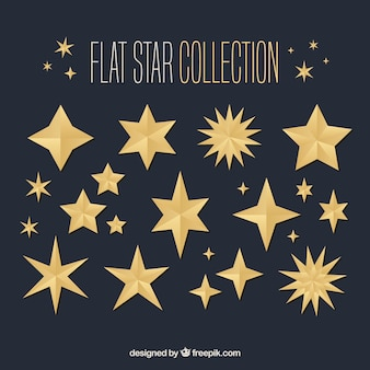 Flat star collection Free Vector