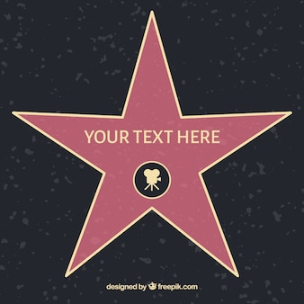 Flat star of fame template