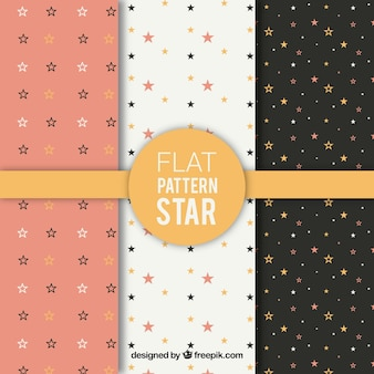 Flat star pattern collection