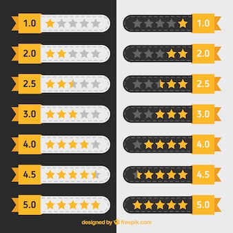 Flat star rating collection