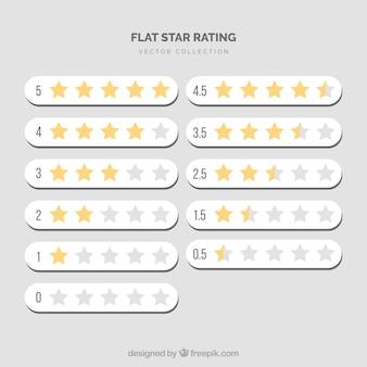 Стартовая рейтинговая коллекция Бесплатные векторы