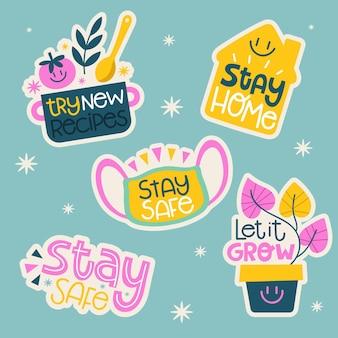 플랫 스테이 홈 스티커 컬렉션